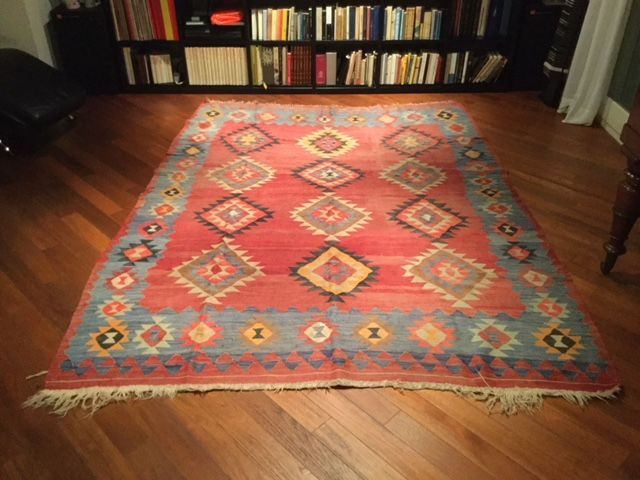 Caucasian Kilim, wool on wool, hand-knotted, 190 x 290 cm, from the 1920s