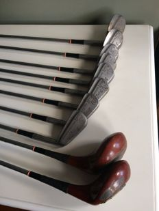 Lot 10 golf clubs - Henry Cotton - vintage 1930 - 1940