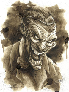 The Joker III - Original Coffee Drawing By Juapi