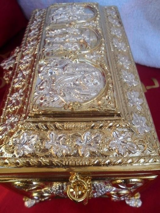 Gilded unbreakable ,silver plated,gilded bronze Box - Russia -20th century
