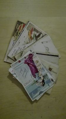 Lot de 37 regimental postcards, all circulated, numbered