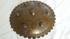 A bronze decorative shield (Dhal/Sipar) - India/Central Asia - end 20th century