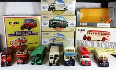 Corgi Classics - Scale 1/50 - Lot with 7 bus models - Allen Limited edition boxed. (1989-1993)