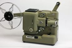 Eumig P 8 cinefilm projector 8 mm, made in Austria in 1959 Possibility for running along of sound tape