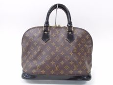 Louis Vuitton – Monogram Macassar Alma/Custom Black Vernis – Handbag