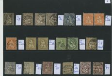 Switzerland starting from 1862 - Batch of stamps