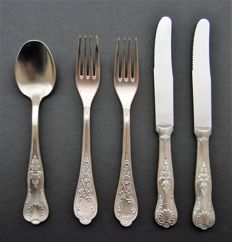 Antique Silver Plated Cultery, European, Late 19th Century