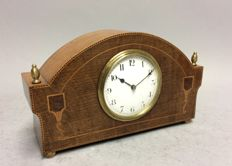Mahogany English table clock, so-called mantle piece - around 1925