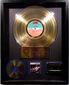 AC/DC - ´74 Jailbreak - real US RIAA Gold Award goldene Schallplatte - original Sales Music Record Award ( Golden Record )