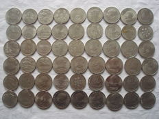 GDR - 54 x 5, 10, 20 mark 1971-1990 commemorative coins