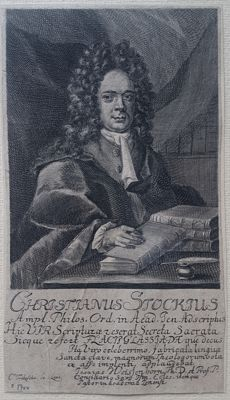 Christian Friedrich Fritzsch ( 1719 - 1774) - Christianus Stockius; Proffesor in Philosophy, Orientalist and Lexikograph - 1710/1750