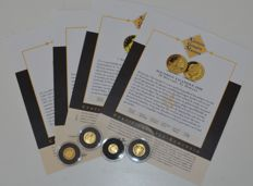 "World - 4 coins ""the smallest gold coin collection"" 2008 - gold"