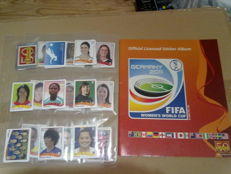 Panini - football World Championship women's 2011 - almost complete sticker set (321/336) + blank album