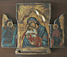 Hand painted Triptych France, early 20th century