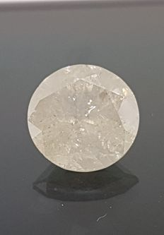 6.45 ct Round Diamond SI2/G Big Size XXXL Really Rare for an Exclusief Collection