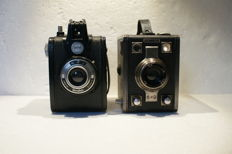 A lot of 2 box cameras, a Gevaert Gevabox II and a Gevabox 6 x 9 made in the 1950s