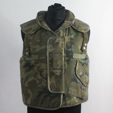 Spanish Military Anti-fragment Vest in Woodland Camouflage.