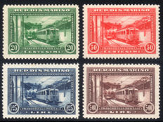 San Marino, 1932 – Railway, complete series of 4 values – Sass. No.  164/167.