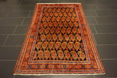 Unique Persian carpet, Malayer Bote Hamadan, great wool, natural dyes, made in Iran 140X215 cm