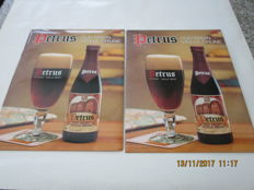 "Twice ""Petrus"" old Brown - vieille Brune - glossy paper on cardboard"