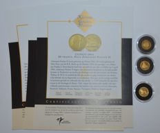 "World - 3 coins ""the smallest gold coin collection"" 2005 - gold"