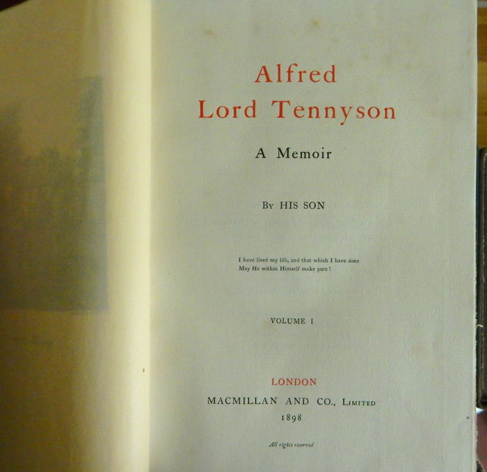 the life and works of alfred tennyson Alfred tennyson (1809-1892)_文学研究_人文社科_专业资料。alfred tennyson (1809-1892) teaching objectives: knowing tennyson's life, works.