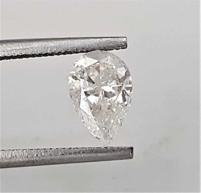 Pear Shape - 1.00 carat - D color - SI2 clarity - Natural Diamond Comes With AIG Certificate + Laser Inscription On Girdle