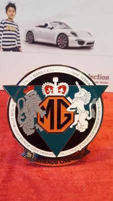 MG grill badge.