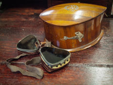 WWI Ace's Lot : Handcrafted & Handpainted Tobacco Box Welsh Pilot William Molesworth Ephemera