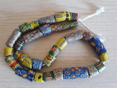 Old Venetian Millefiori beads from African trade, beginning of the 20th century