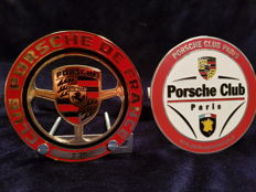 2 x Porsche France Grill Badge 1 x Club de France 1 x Paris