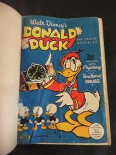 Donald Duck Weekblad - 2 years in 1 private binding - 1st edition (1952/1953)