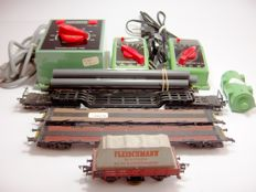 Fleischmann H0 - Various numbers - Extensive lot with transformers and freight cars