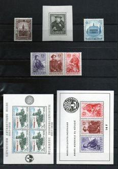 Belgium 1935–1960 - Composition of blocks and stamps from blocks