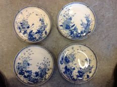 Set of 4 wall plates – Japan – first half of 20th century