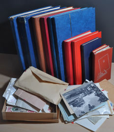 World - batch in many motifs in various stock books and envelops.