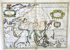 Asia; Edward Wells - A New Map of Present Asia (..) - 1738