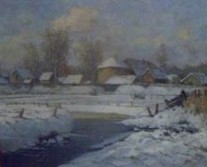 Heytman William (1950) - Winterlandschap