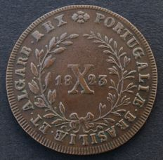 Portugal – Monarchy – D. João VI – X Réis 1823 – Copper