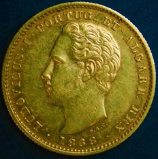 Portugal Monarchy – D. Luís I – 5.000 Réis 1868 – Gold