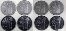 "Italy, Republic – 100 Lire ""Minerva"" 1966/67 (4+4) – Lot of 8 coins"