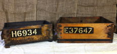 2 spare parts crates - British Indian Army Aviation