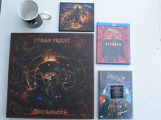 Lot of Judas Priest ( box with 3 lp's 1 poster 2 CD's ) 2 CD's and 2 DVD's.