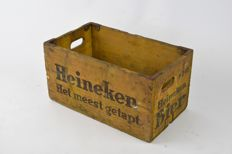 Heineken vintage wooden beer crate from the 1960s