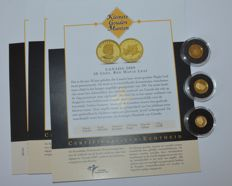 "World - 3 coins ""the smallest gold coin collection"" 2009 - gold"