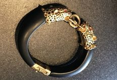 Very rare American socialite Wallace Simpson duchess of Windsor Panther bracelet franklin mint