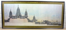 Colour print  Angkor Wat Pagoda Royale, Coupe Tranversale Nord-Sud - Cambodia - 1992 (122 cm)