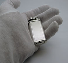 DUNHILL 'UNIQUE' LIGHTER SILVER PLATED TRIM - 459042 made in England