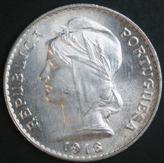 Portugal, Republic - 50 centavos 1916 - silver