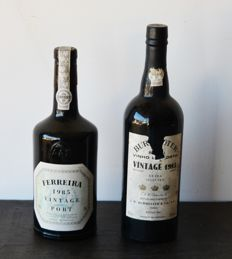 1985 Vintage Port: Burmester Extra Selected & Ferreira - 2 bottles in total